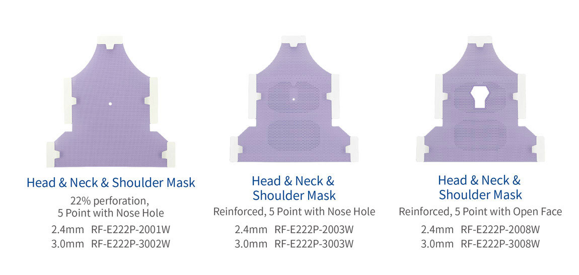 Meicen Head&Neck&Shoulder Masks 5-Point with Nose Hole