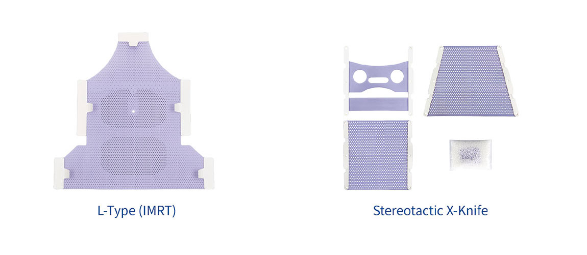 Meicen Violet Imrt S-Shaped Head&Shoulder Thermoplastic Mask