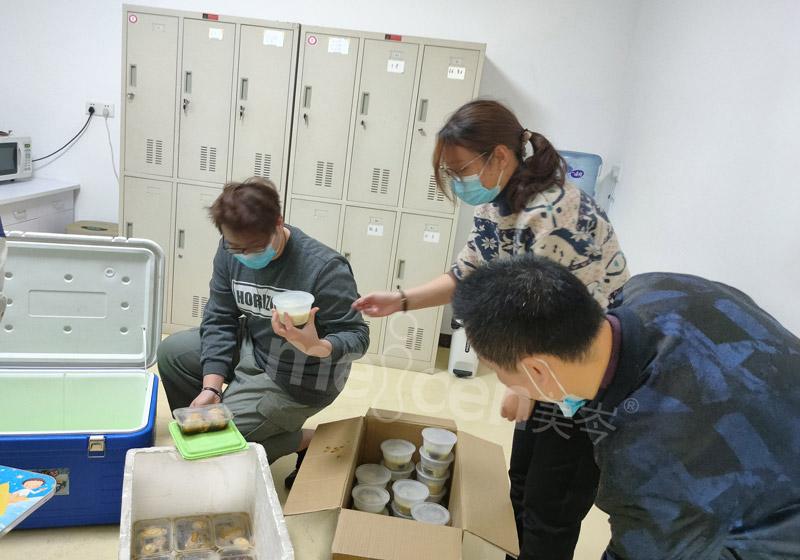 广州人福公司冬至加餐活动情暖员工心